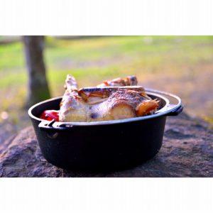 キャンプ飯 鳥の丸焼き
