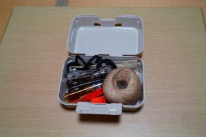 セリアのキャンプに使えそうな収納ボックスの写真です。