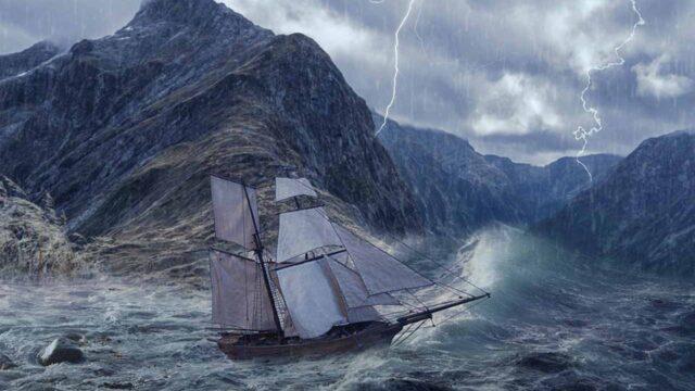 キャンプ中にゲリラ豪雨に襲われた時の対処に関する写真です。